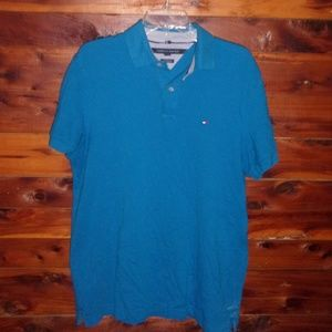Tommy Hilfiger blue mens polo